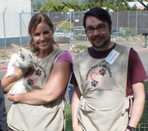 Bunny Huggers w-rabbit
